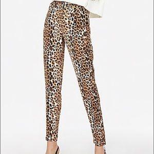 Express High Waist Leopard Print Ankle Dress Pants